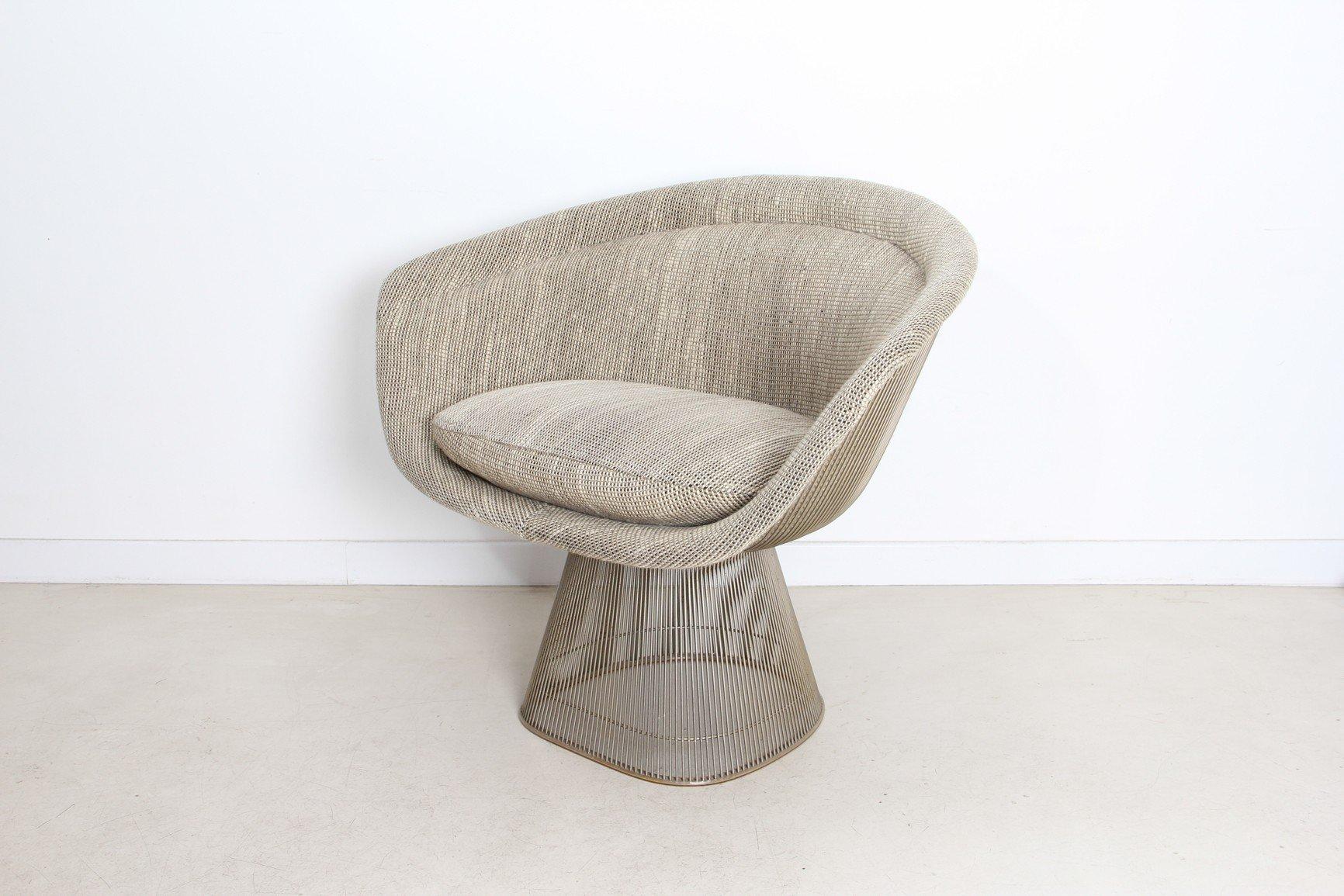 Woolen and steel armchair Warren PLATNER 1966 Design Market