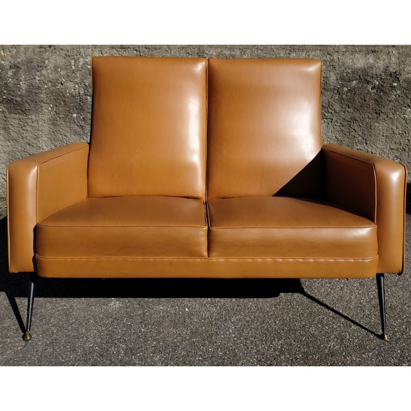 Remarkable Vintage 2 Seater Sofa In Faux Leather From The 60S Cjindustries Chair Design For Home Cjindustriesco