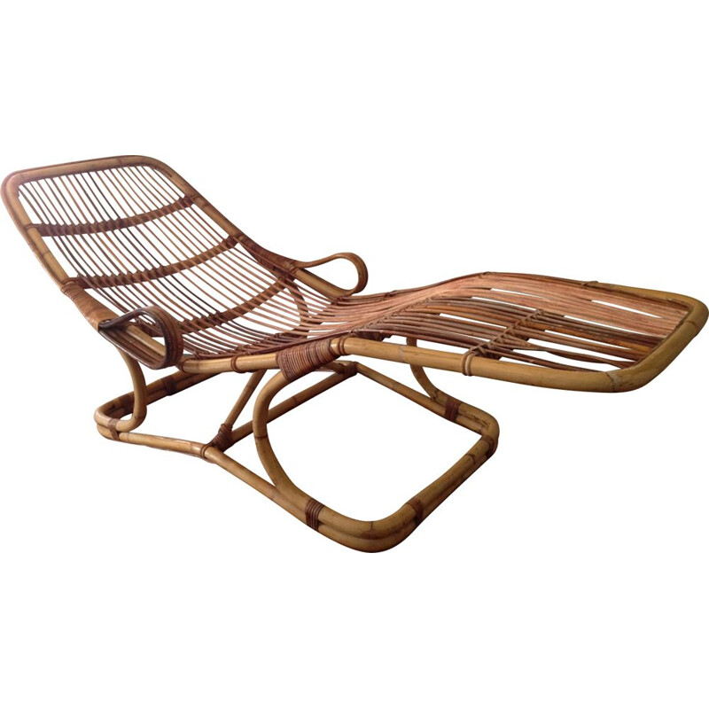 Vintage lounge chair in rattan