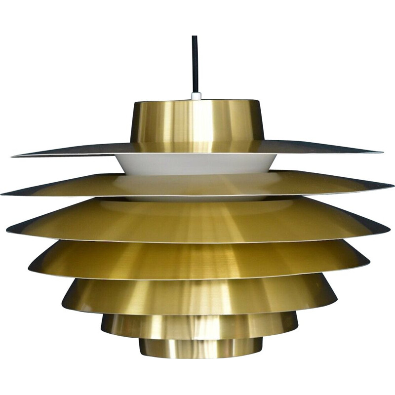Vintage hanging lamp in brass Verona by Sven Middelboe for Nordisk Solar