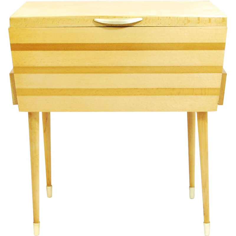 Vintage chest in beech, Germany 60s