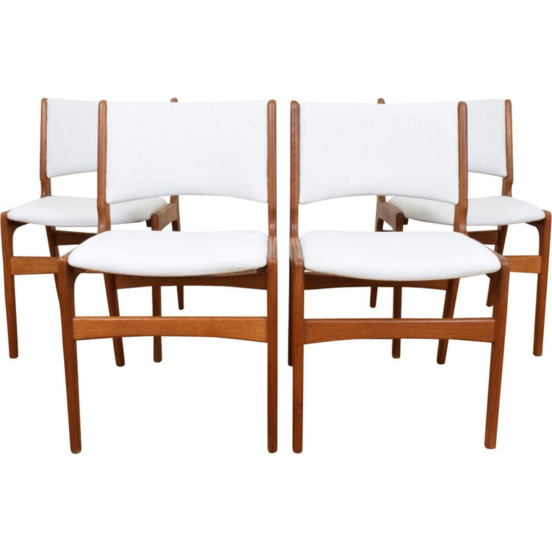 Set of 4 vintage chairs Model 89 by Erik Buch for Anderstrup Møbelfabrik, Danish 1960s