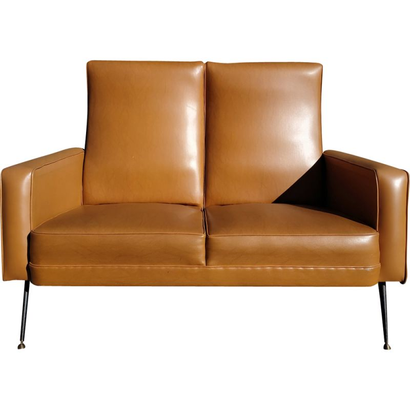 Pleasing Vintage 2 Seater Sofa In Faux Leather From The 60S Cjindustries Chair Design For Home Cjindustriesco