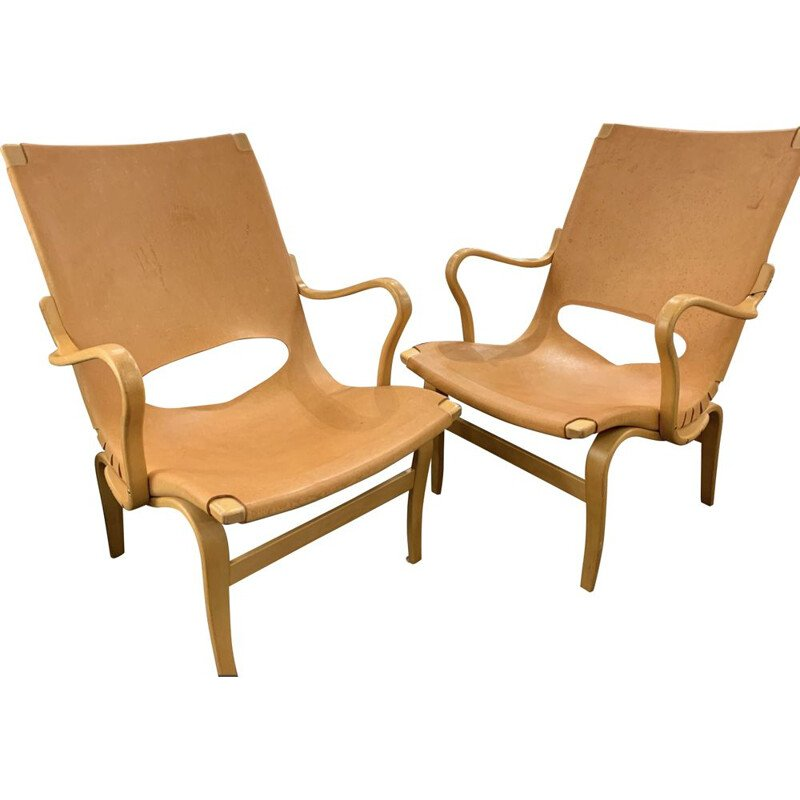 Vintage pair of armchairs Eva for Karl Mathsson