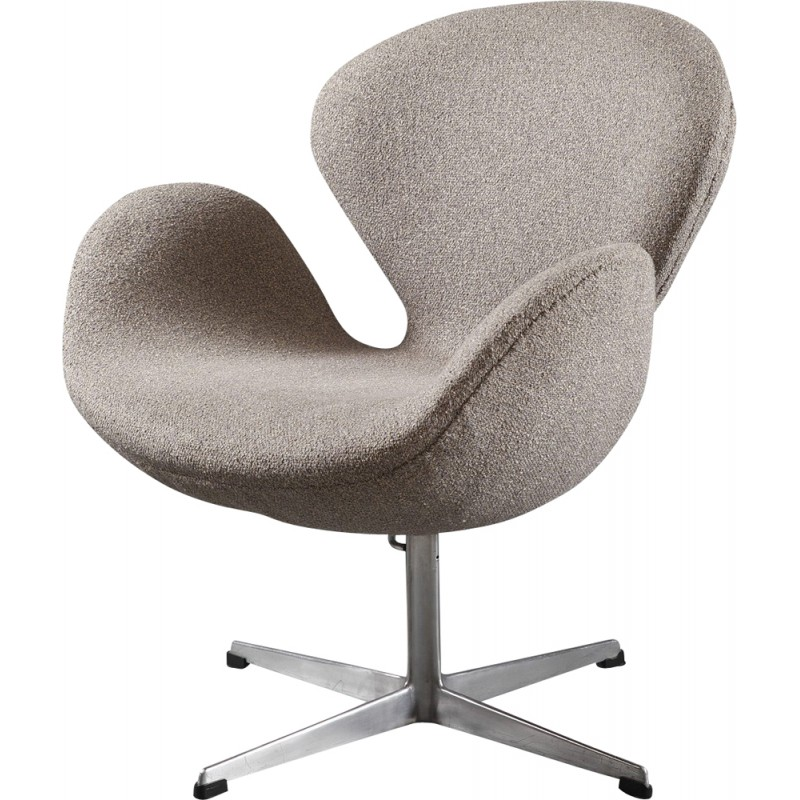 Swan Chair In Fabric Aluminum By Arne Jacobsen 1960s