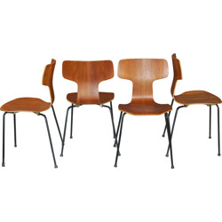 Set of 4 chairs, Arne JACOBSEN - 1960s