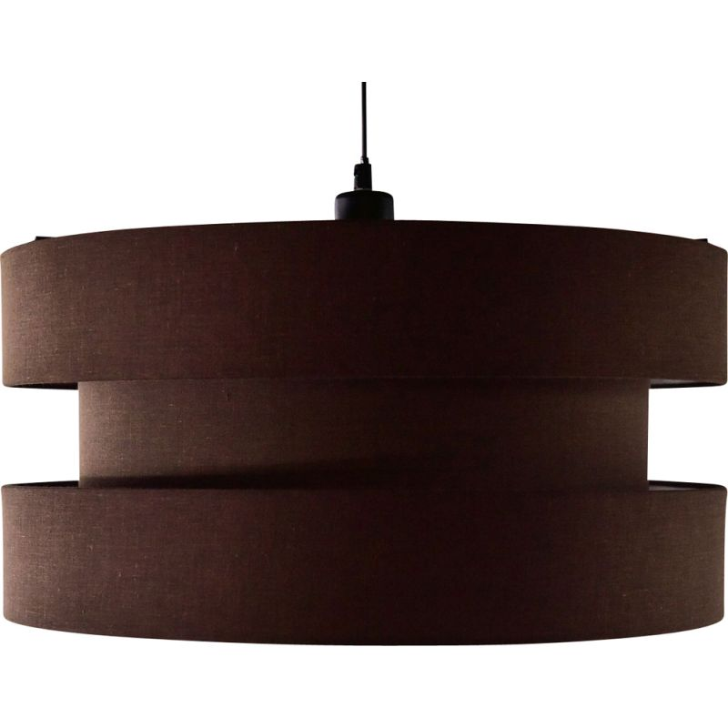 Vintage Ceiling lamp in brown fabric from the 70's