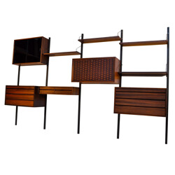 Wall system in rosewood, Poul CADOVIUS - 1950s