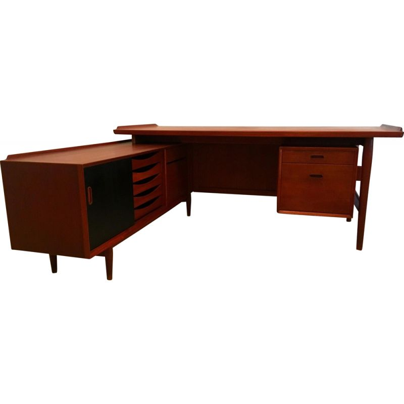 Vintage desk by Arne Vodder for Sibbast, Scandinavian 1950s