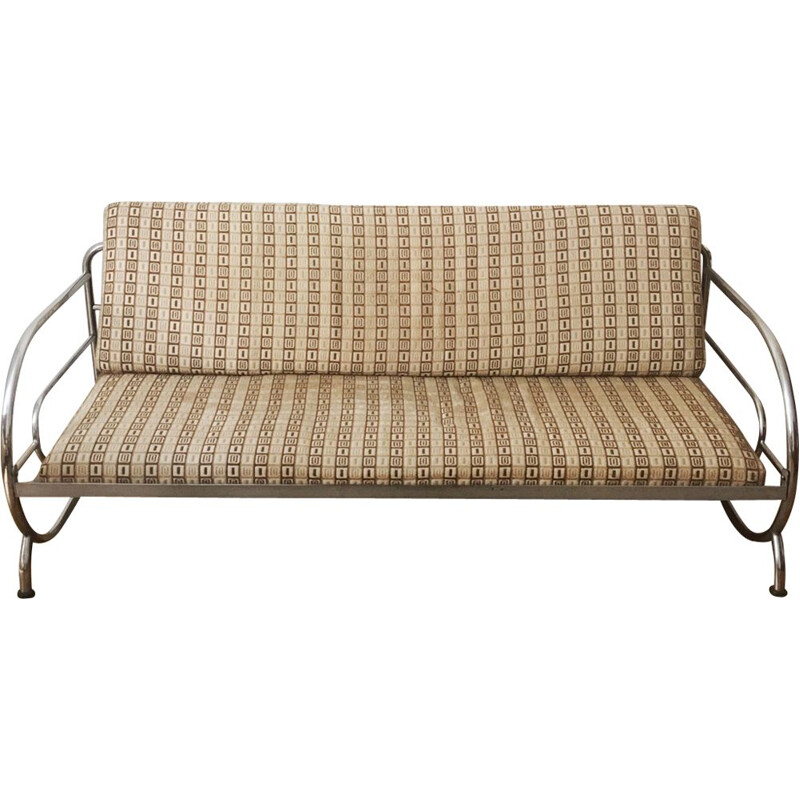 Beige sofa in steel by Robert Slezak
