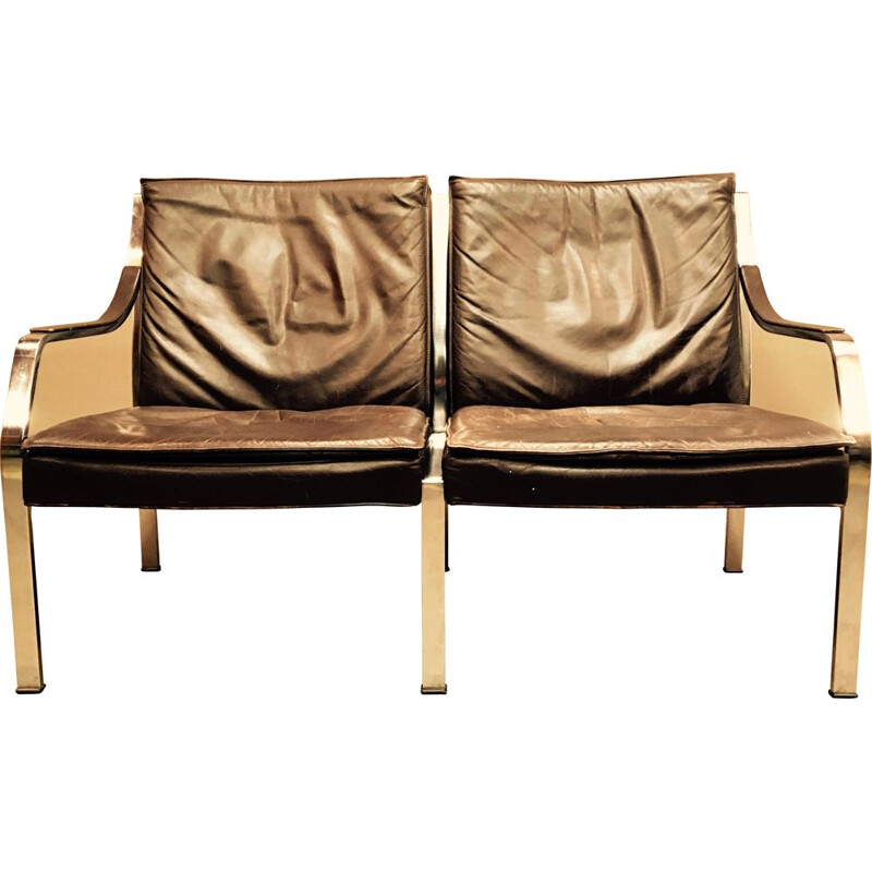 Alpha sofa in leather by Walter Knoll