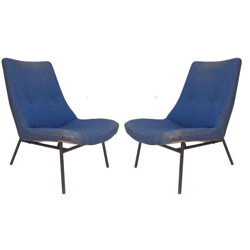 Pair of low chairs SK660, Pierre GUARICHE - 1950s