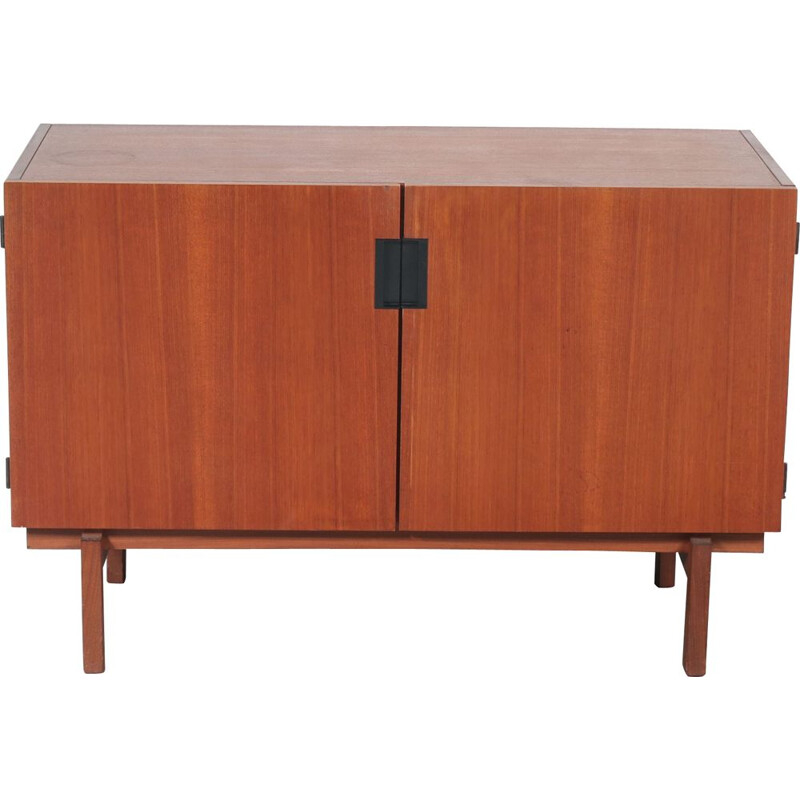 Vintage danish sideboard by Braakman for Pastoe in teak and metal 1950