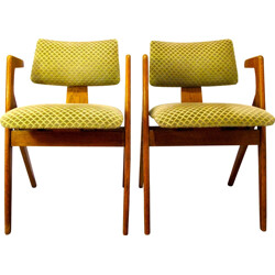 Pair of Bridge armchairs, Robin DAY - 1950s