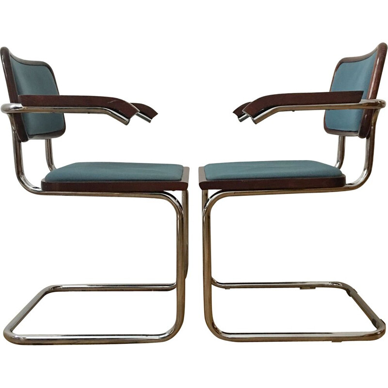 Set of 2 Vintage Dining Chairs by Marcel Breuer