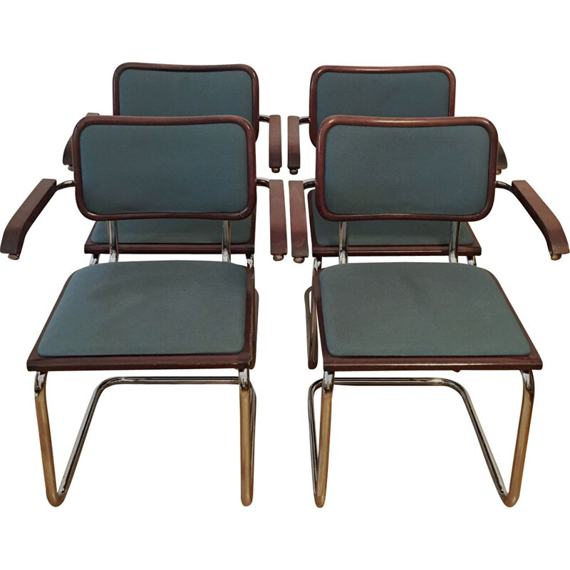 Set of 4 Vintage Dining Chairs by Marcel Breuer
