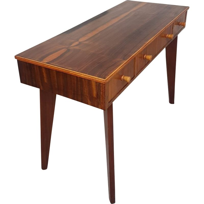 Vintage Console Table in Walnut by Morris Of Glasgow