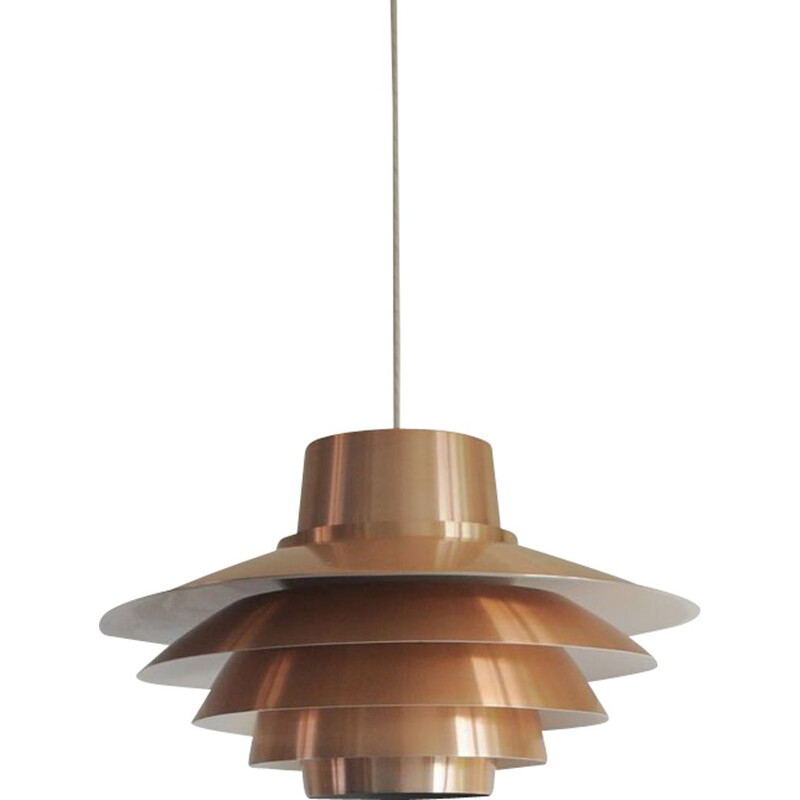 Vintage Verona pendant for Nordisk Solar in copper and aluminium 1970