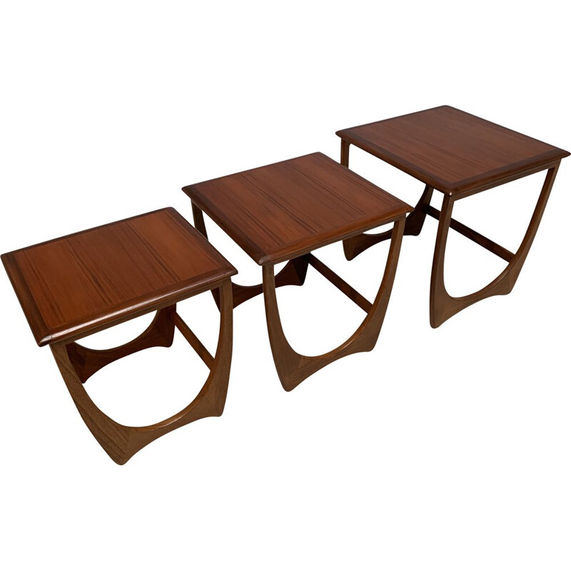 Vintage nesting tables for G-Plan in teakwood 1960