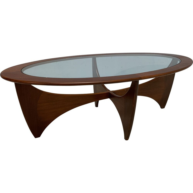 Vintage Astro coffee table in teak and glass 1960