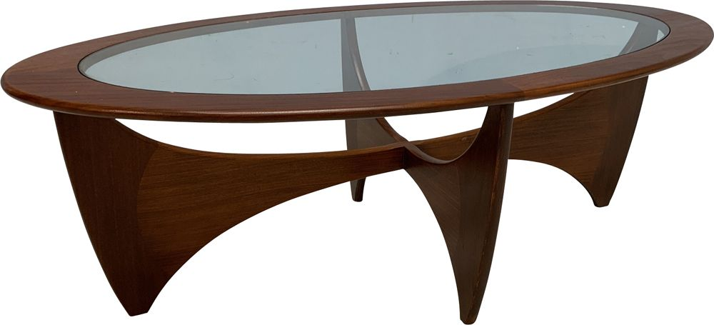 Vintage Astro coffee table in teak and glass 1960 - Design ...