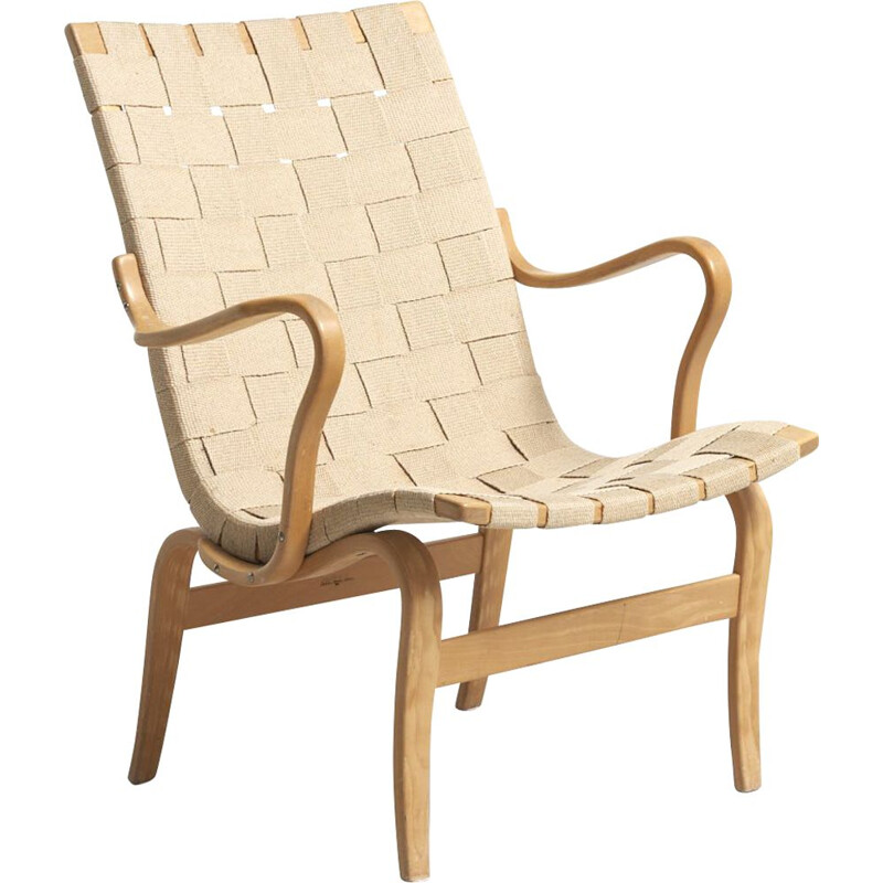 Vintage Eva armchair for Karl Mathsson in birchwood 1960