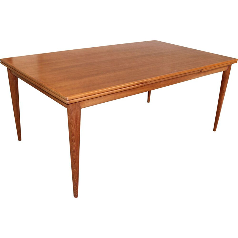 Vintage table in teak with extension Sibast