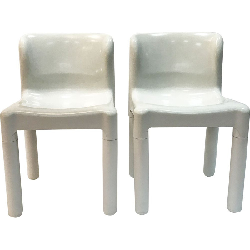 Pair of vintage chairs 4875 by Carlo Bartoli for Kartell, Italy