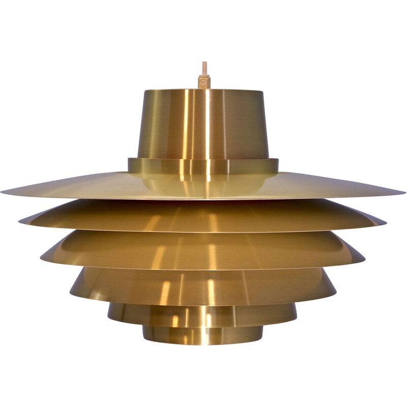 Vintage hanging lamp Verona XL in brass by Svend Middelboe for Nordisk Solar, Danish 1960s