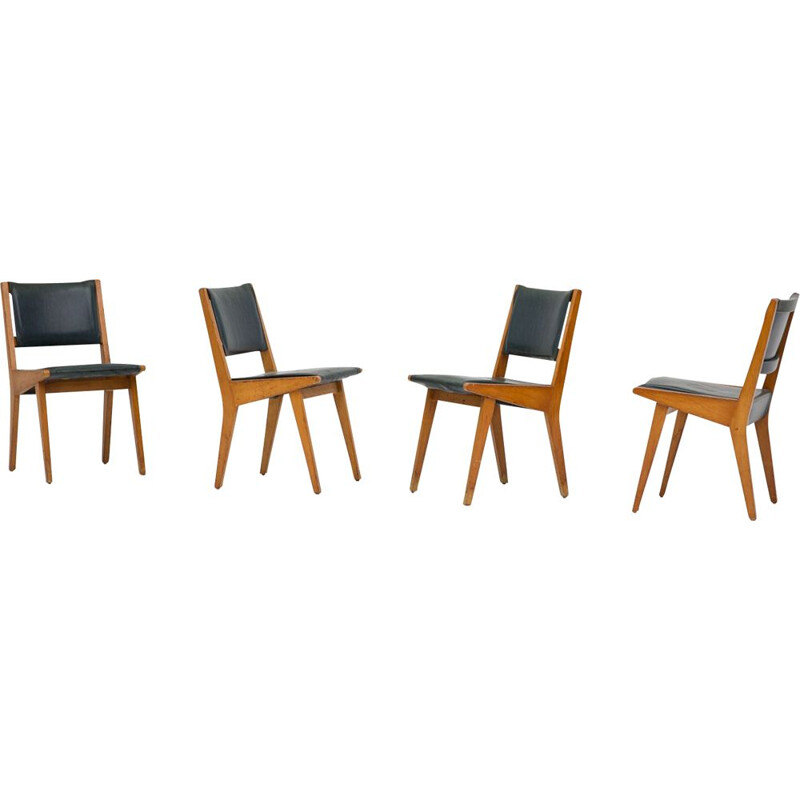 Set of vintage chairs 666 De Coene Benelux Knoll Edition