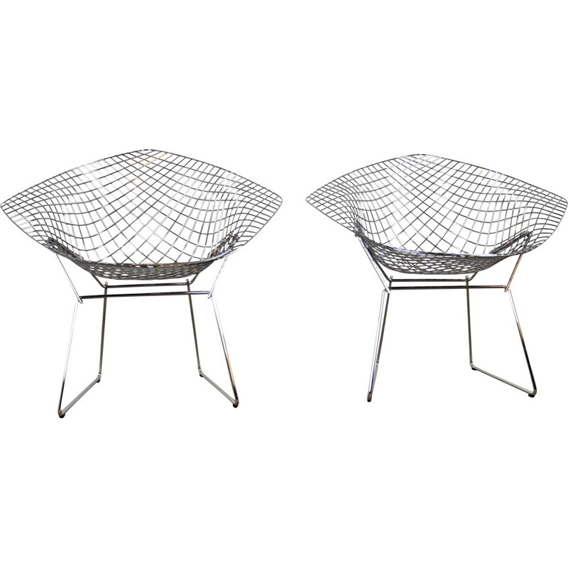 2 vintage armchairs by Harry Bertoia for Knoll International,1990