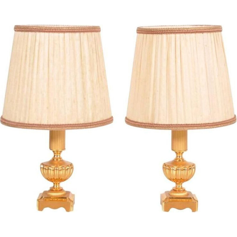 2 vintage Italian table lamps by Gaetano Sciolari,1970