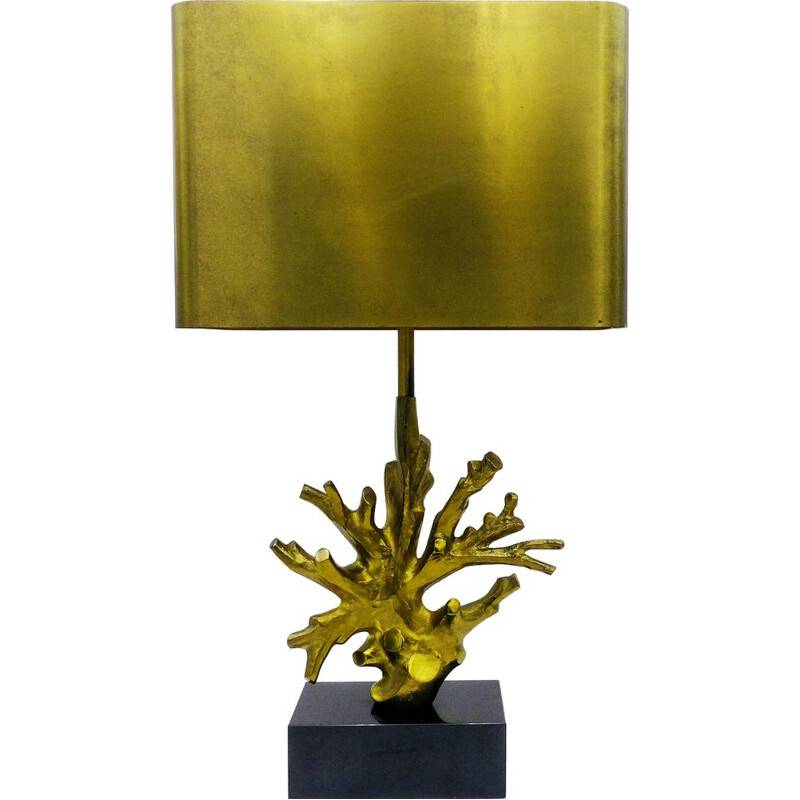 Vintage lamp for Maison Charles in bronze and brass 1970