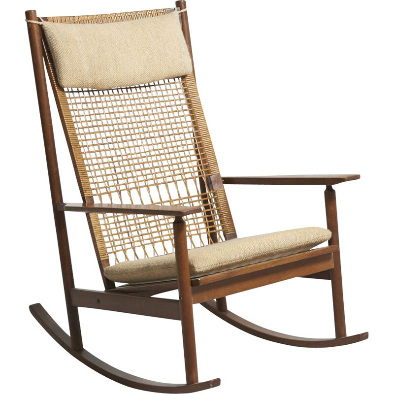 Vintage rocking chair for Juul Kristensen in teakwood 1950