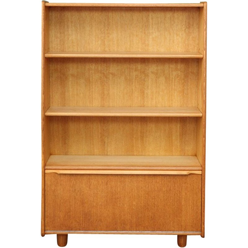 Vintage dutch BE-03 bookcase for Pastoe in oakwood 1950