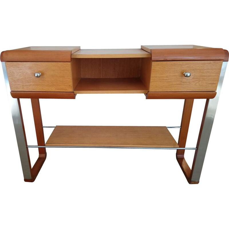 Vintage wood and metal 1970 console
