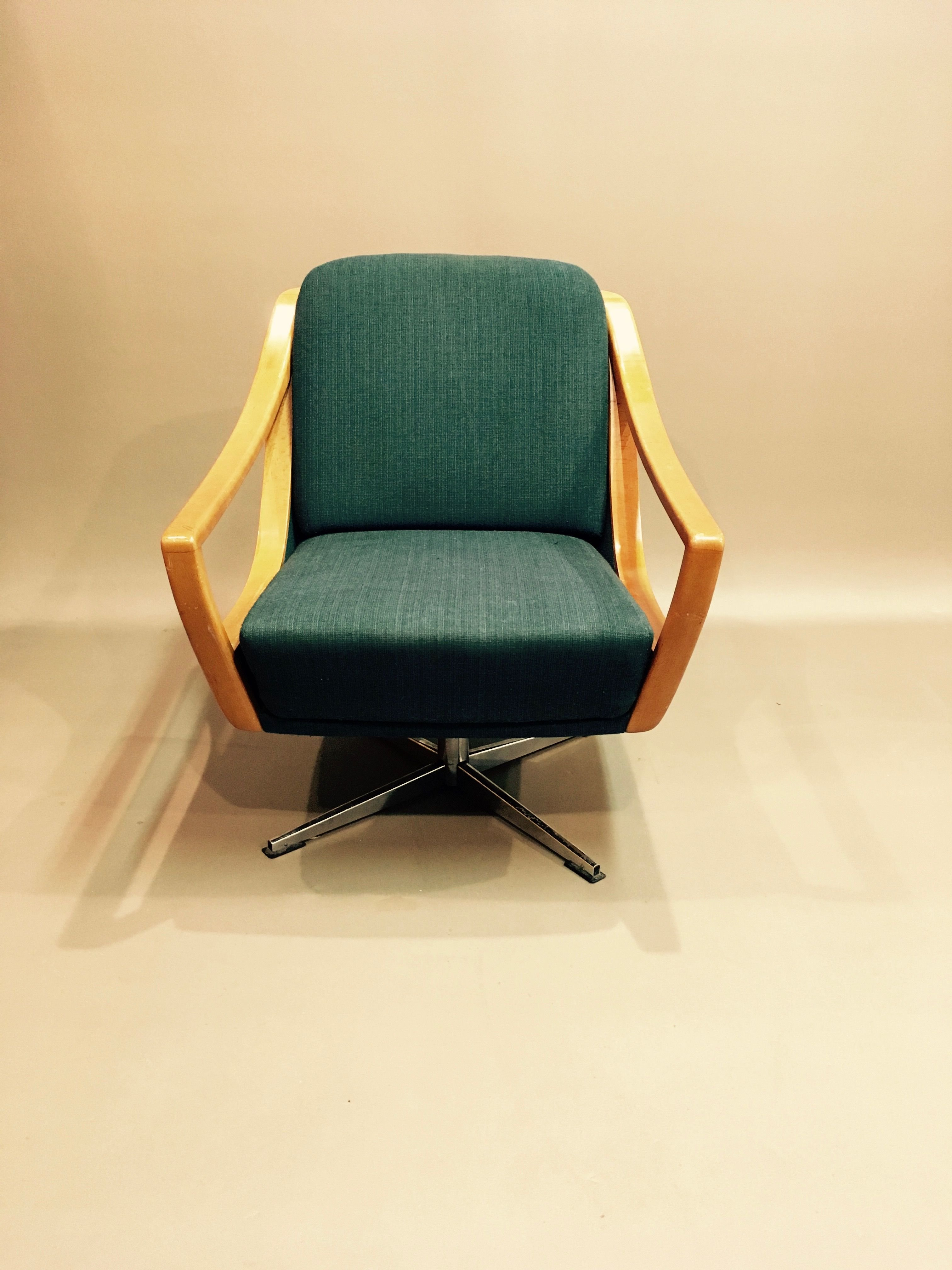 Vintage armchair swivel Scandinavian design 1950 - Design ...