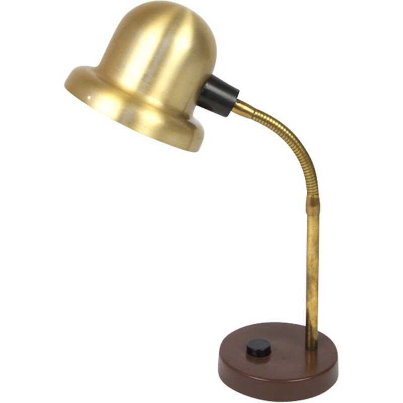 Vintage Scandinavian brass desk lamp by Elidus from the 70s