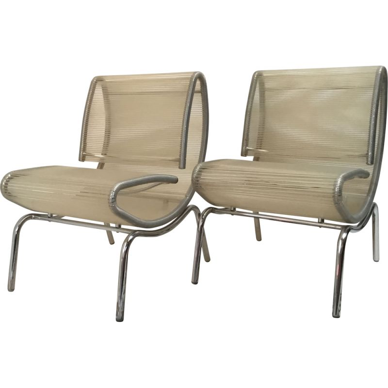 "2 vintage Italian ""spaghetti"" easy chair,1980"