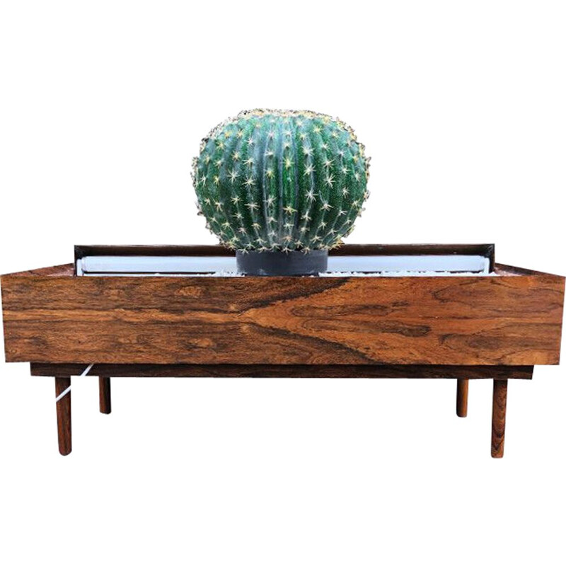 Vintage Planter Indoor Rosewood With Strip Light