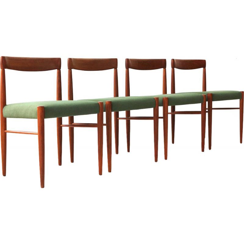 Set of 4 vintage dining chairs Teak by H.W. Klein for Bramin Danish