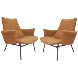 Pair of armchairs SK660, Pierre GUARICHE - 1950s