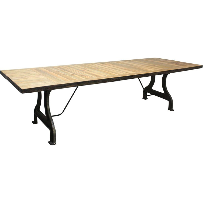 Vintage large English industrial table