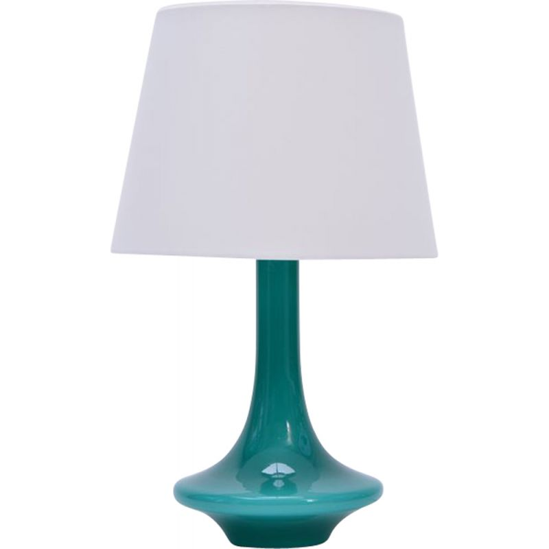 Vintage green glass table lamp by Le Klint