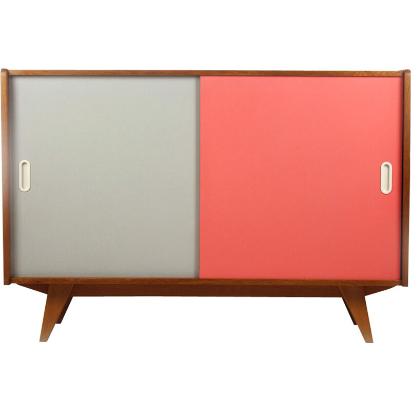Vintage pink and grey sideboard for Interiér Praha in wood 1960