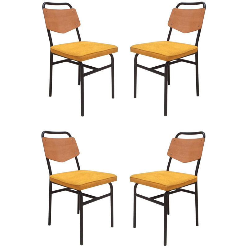 4 dining chairs, RAPHAEL - 1950s