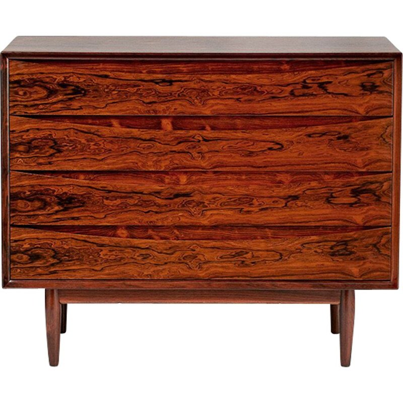 Vintage scandinavian chest of drawers for Sibast in rosewood and oakwood