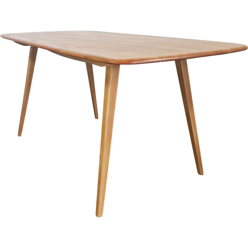Vintage table for Ercol in elmwood and beechwood 1960