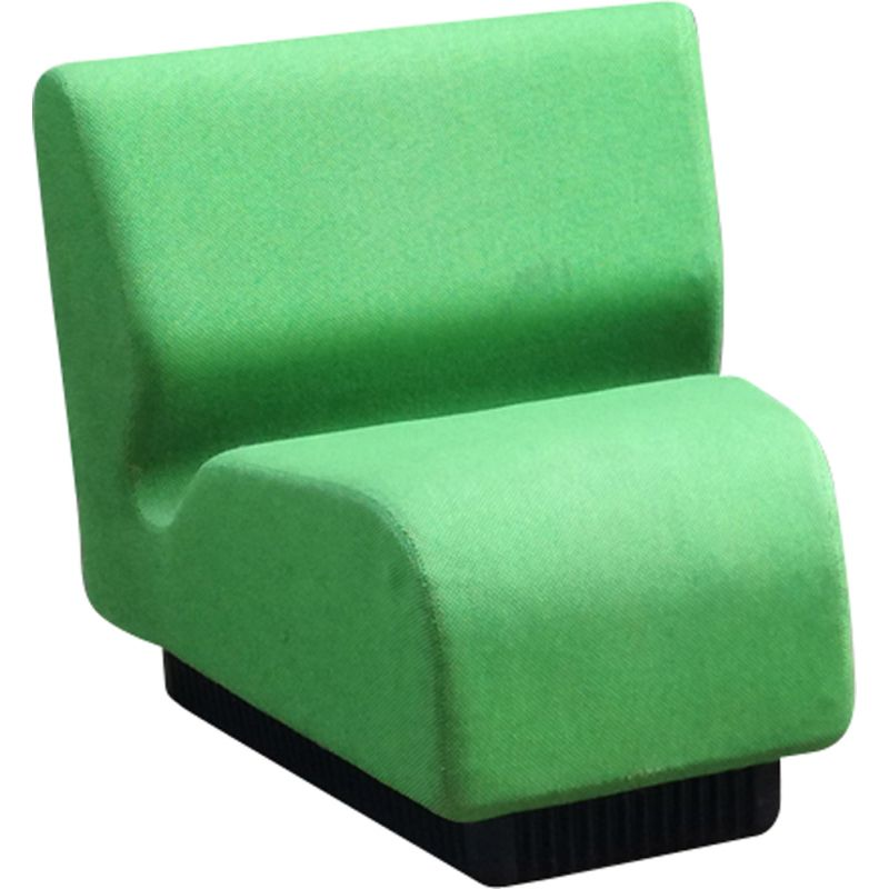 Vintage sectional sofa for Herman Miller in green fabric 1960