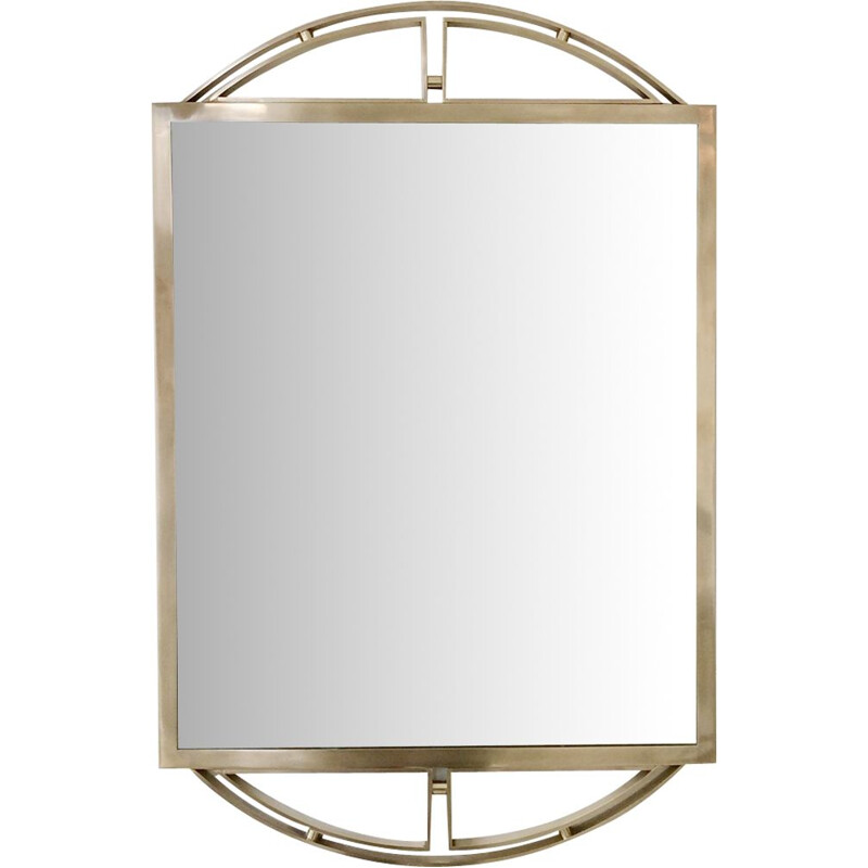 Vintage Italian mirror in brass,1970